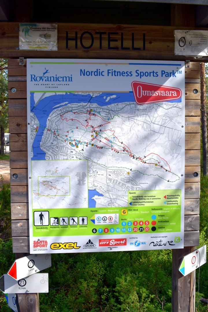Ounasaara Sport Park Map