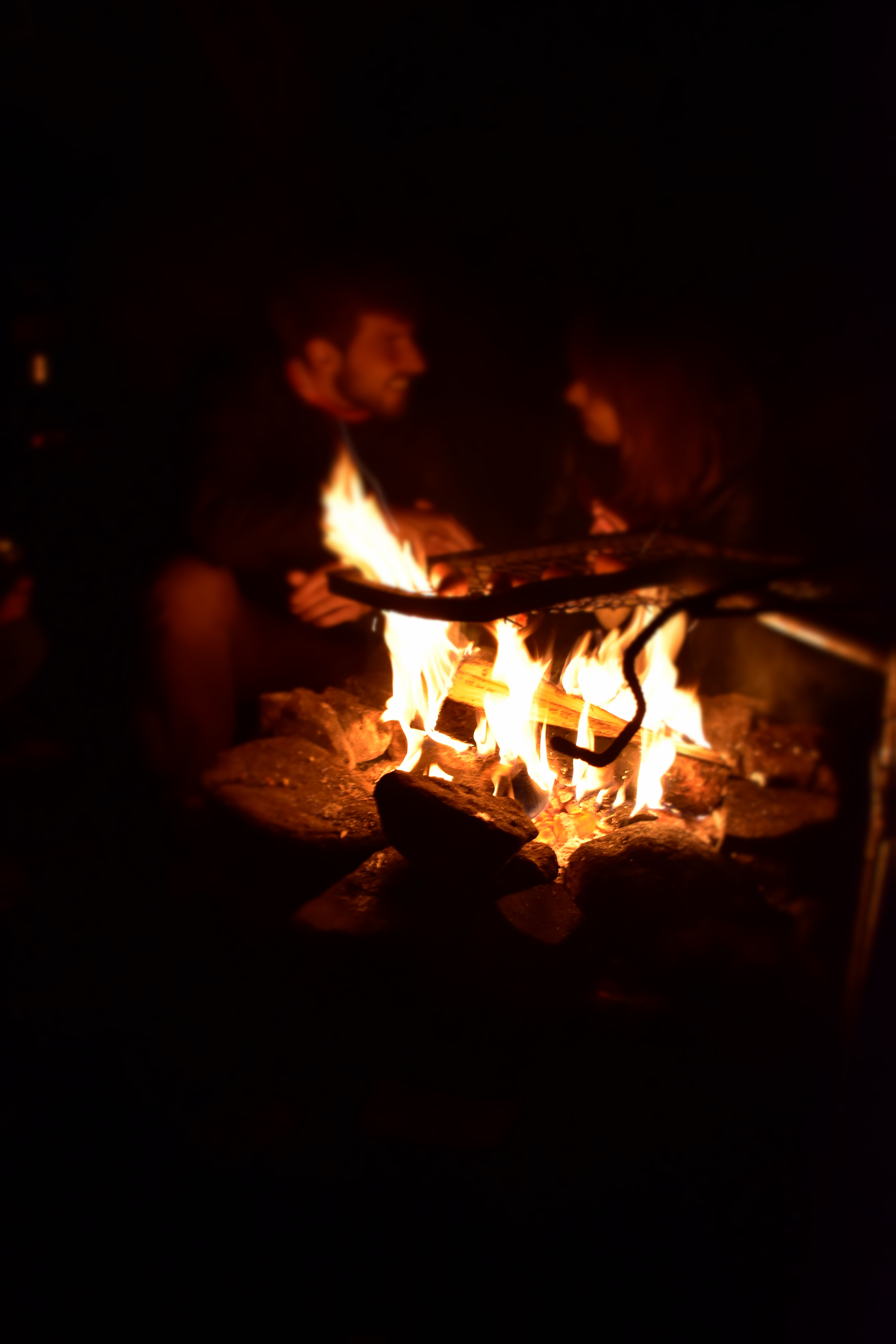 Cosy camp fire